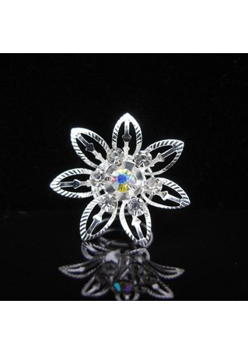 Big Flower Curlies met Kristallen - 6 stuks