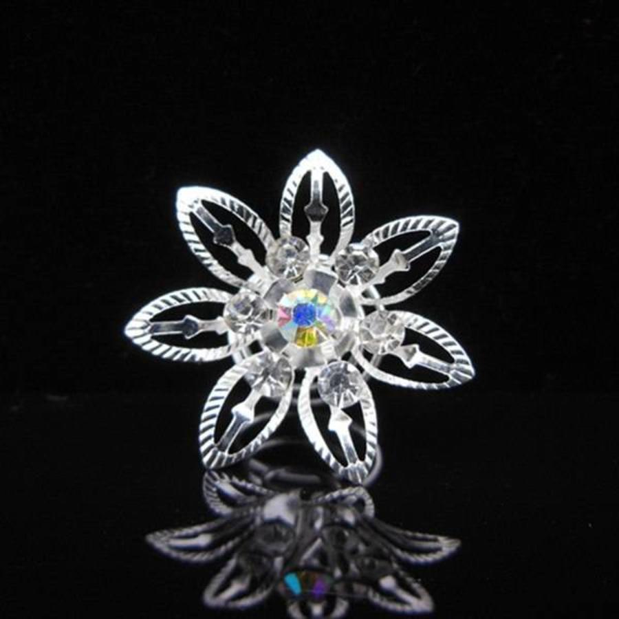 Big Flower Curlies met Kristallen - 6 stuks-1