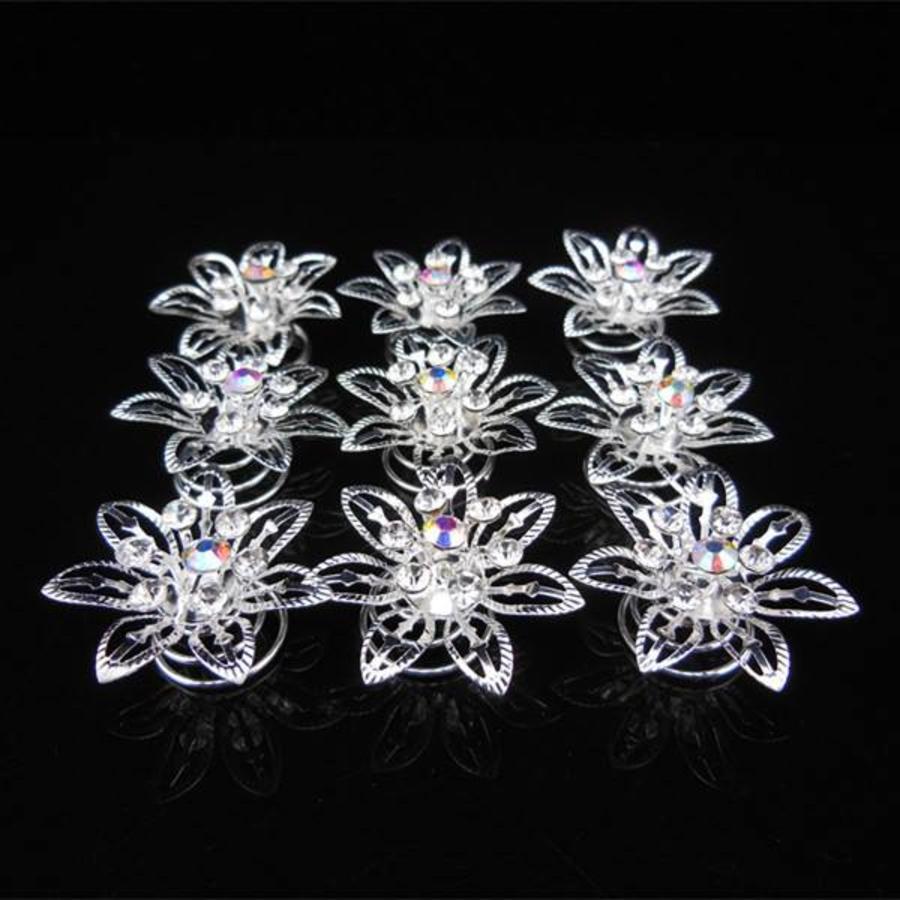 Big Flower Curlies met Kristallen - 6 stuks-5