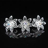 thumb-Big Flower Curlies met Kristallen - 6 stuks-2