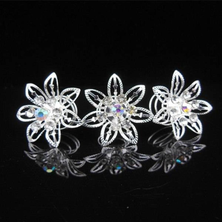 Big Flower Curlies met Kristallen - 6 stuks-2