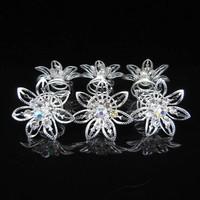 thumb-Big Flower Curlies met Kristallen - 6 stuks-3