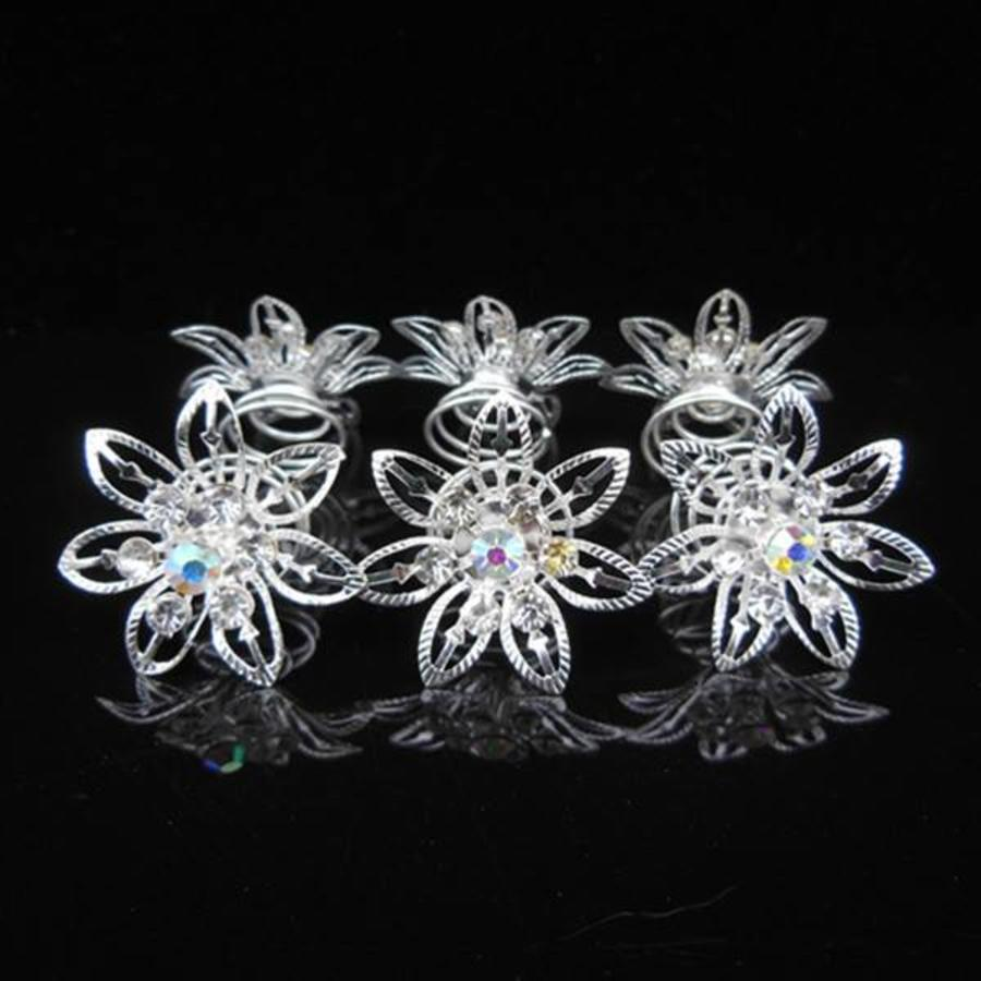 Big Flower Curlies met Kristallen - 6 stuks-3
