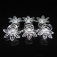 thumb-Big Flower Curlies met Kristallen - 6 stuks-4