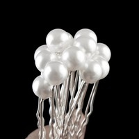 thumb-Hairpins – Ivoorkleurige Parel - 5 stuks-2