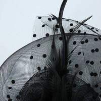 thumb-Prachtige Fascinator / Birdcage Veil  - Wit-4
