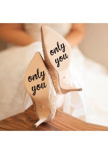Only You - Sticker - Zwart - 4 cm.