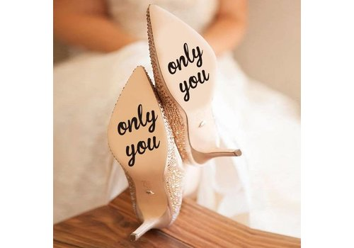 Only You - Sticker - Zwart - 4 cm.