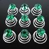 Groene Kristal Curlies - 6 stuks