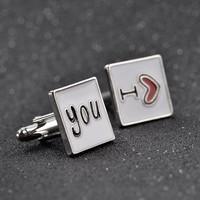 thumb-Manchetknopen in Geschenkdoos /  I love you-2