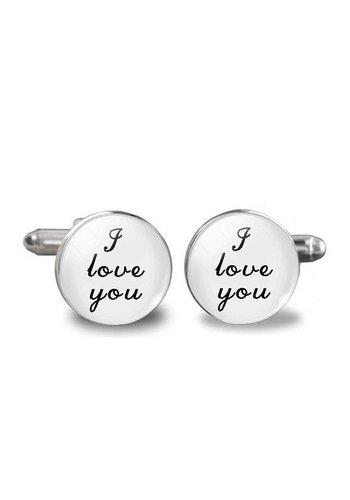 Manchetknopen in Geschenkdoos /  I Love You