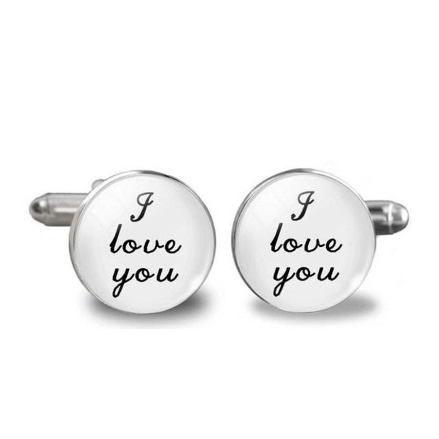 Manchetknopen in Geschenkdoos /  I Love You-1