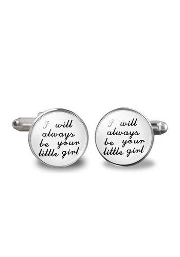 Manchetknopen in Geschenkdoos /  I Will Always Be Your Little Girl