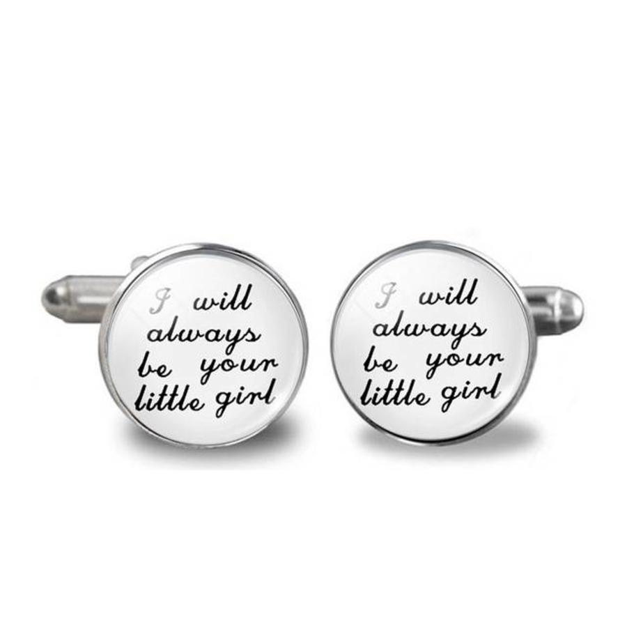 Manchetknopen in Geschenkdoos /  I Will Always Be Your Little Girl-1