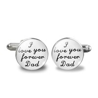 thumb-Manchetknopen in Geschenkdoos /  I love you forever Dad-1