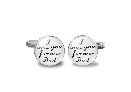 Manchetknopen in Geschenkdoos /  I love you forever Dad