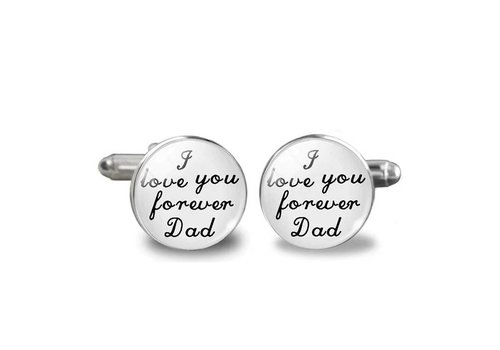 Manchetknopen in Geschenkdoos /  I love you forever Dad
