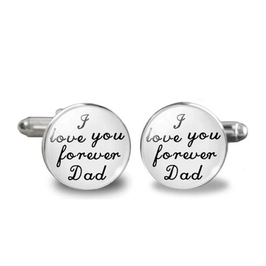 Manchetknopen in Geschenkdoos /  I love you forever Dad-1