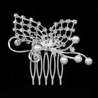 Chique Haarkam Vlinder bezet met fonkelende Kristallen