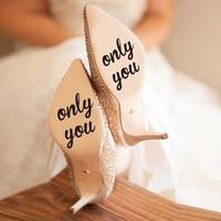 Only You - Sticker - Zwart - 6 cm.