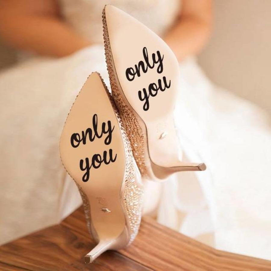 Only You - Sticker - Zwart - 6 cm.-1