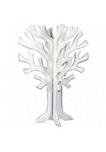 Houten 3D Boom 40x30cm - Kleur Antique White
