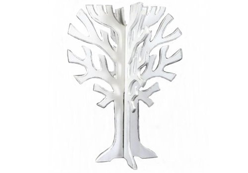 Houten 3D Boom 40 x 30 cm - Kleur Antique White