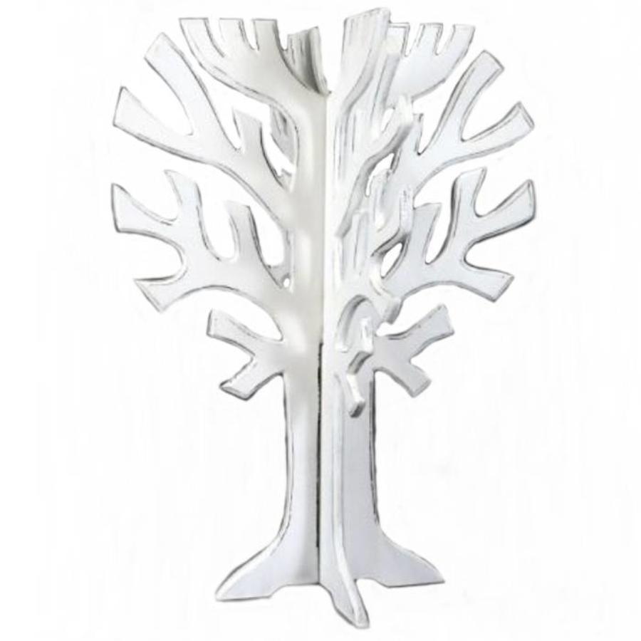 Houten 3D Boom 40x30cm - Kleur Antique White-1