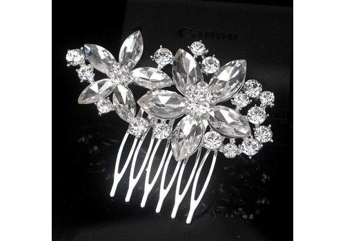 Moderne Fonkelende Haarkam Flowers
