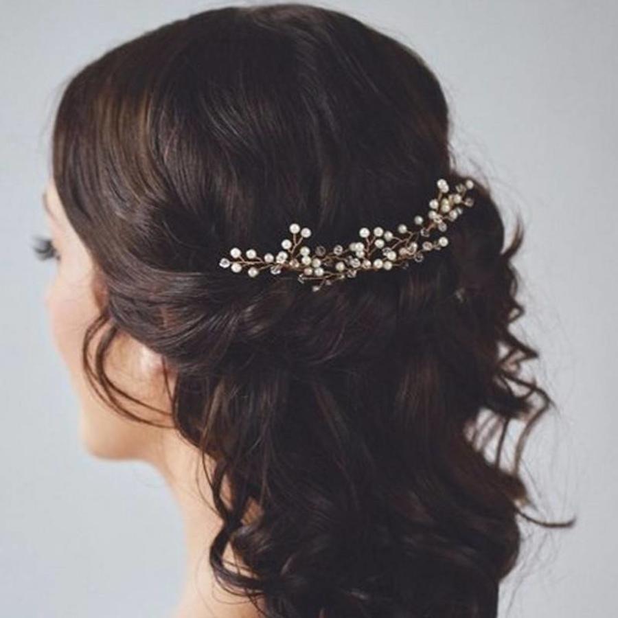 Goudkleurige Hairpins met Kristallen en Pareltjes - 2 Stuks-1