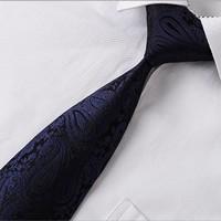 thumb-Elegante Stropdas Set in Geschenkdoos - inclusief Manchetknopen, Pochet en Dasspeld - S17 - Donker Blauw-3