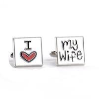 thumb-Manchetknopen in Geschenkdoos /  I love my wife-1