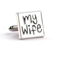 thumb-Manchetknopen in Geschenkdoos /  I love my wife-3