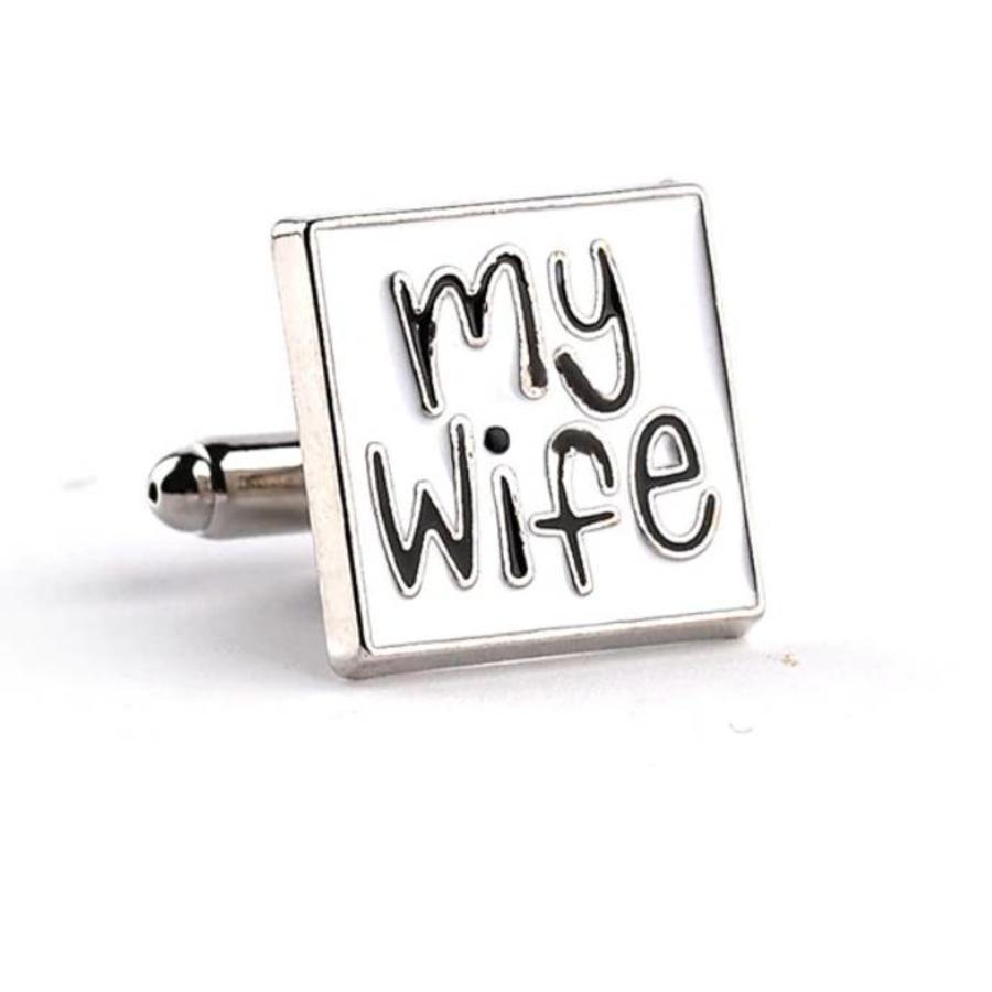 Manchetknopen in Geschenkdoos /  I love my wife-3