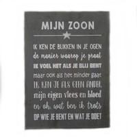 "thumb-BonTon - Houten Tekstplank / Tekstbord 25 x 18 cm ""Mijn zoon...."" - Kleur Antique Grey-1"