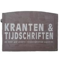 thumb-Houten Krantenbak 33,5x24cm - Kleur Taupe-2