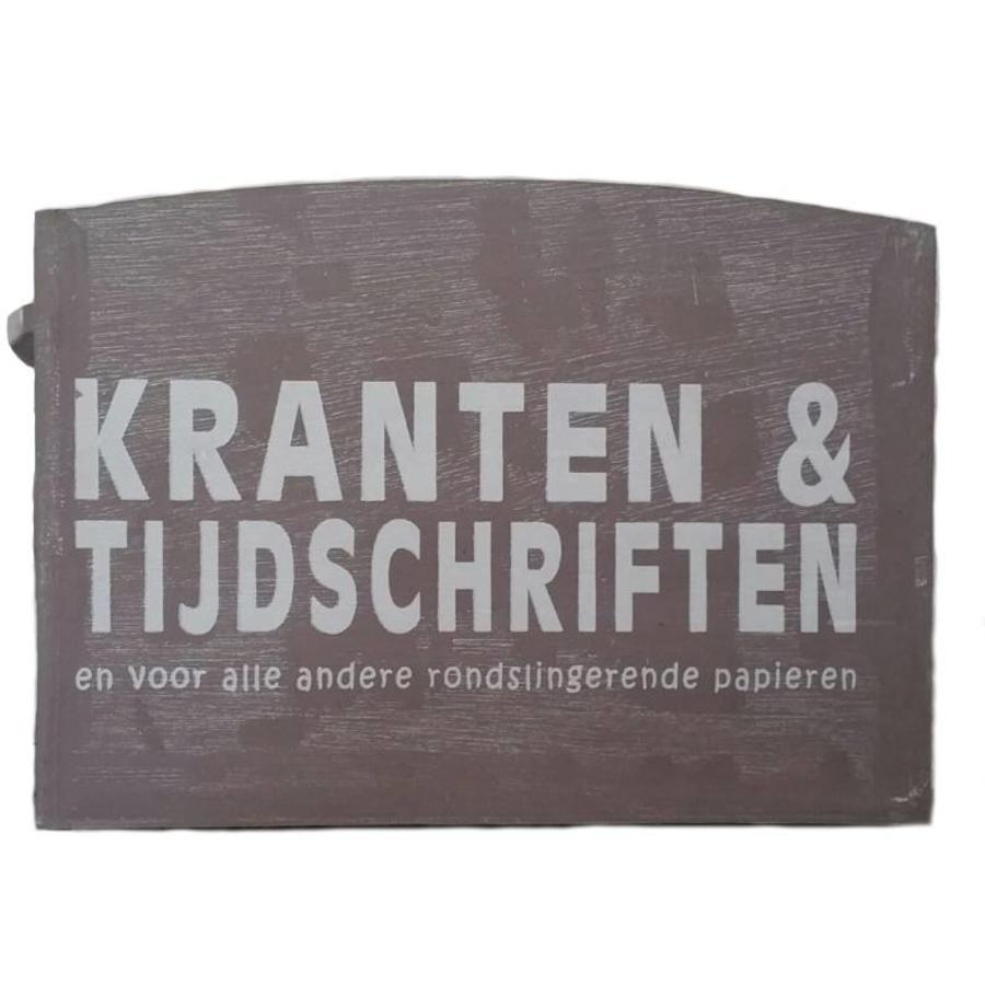 Houten Krantenbak 33,5x24cm - Kleur Taupe-2