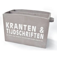 thumb-BonTon - Houten Krantenbak 33,5 x 24 cm - Kleur Taupe-1