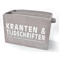 thumb-Houten Krantenbak 33,5x24cm - Kleur Taupe-1