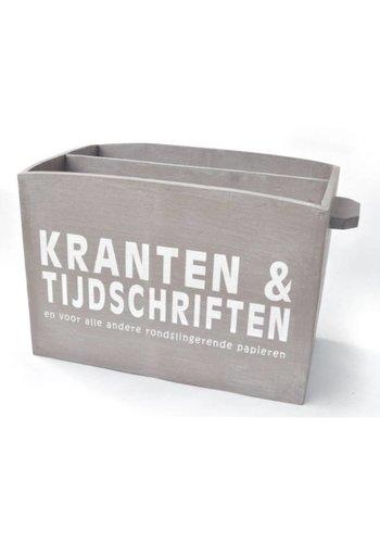 Houten Krantenbak 33,5x24cm - Kleur Taupe