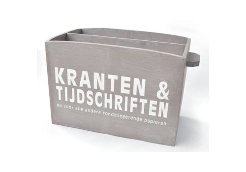 Houten Krantenbak 33,5 x 24 cm - Kleur Taupe