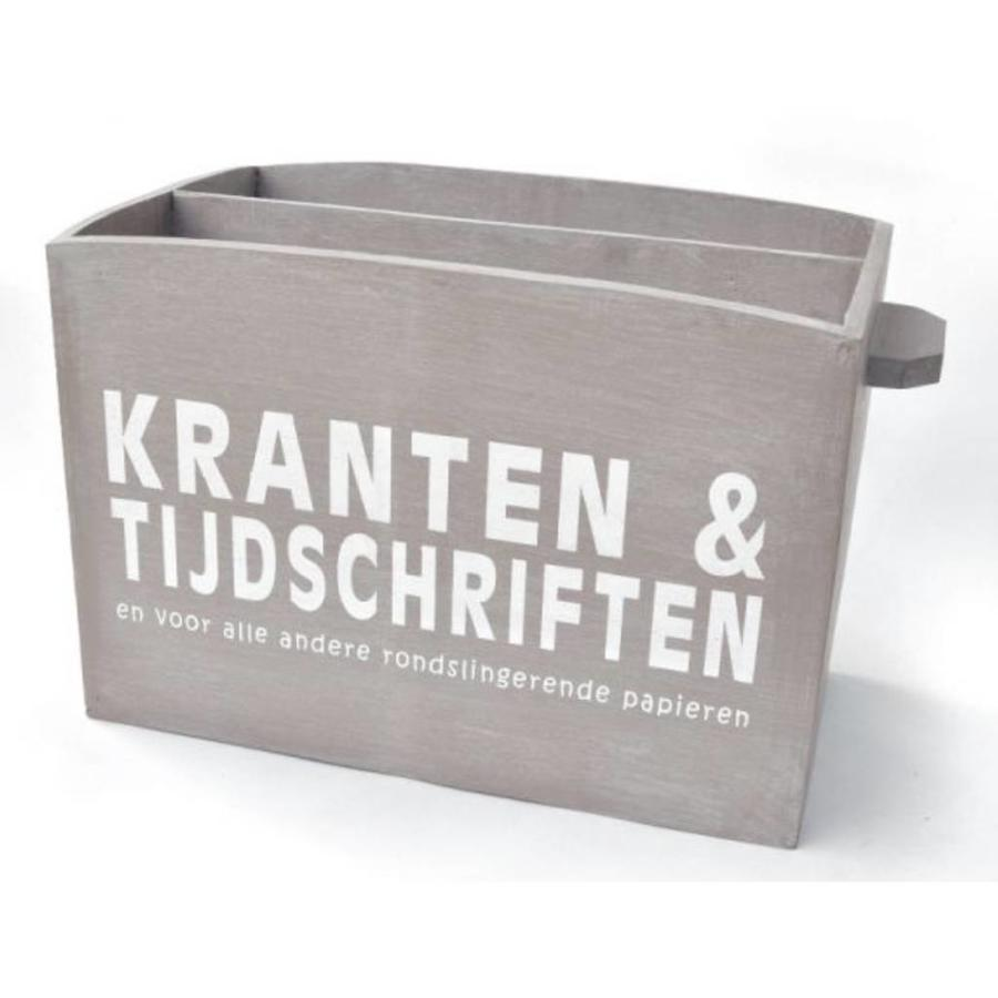 Houten Krantenbak 33,5x24cm - Kleur Taupe-1