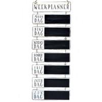 thumb-Houten Weekplanner 65x30cm - Kleur Antique White-1
