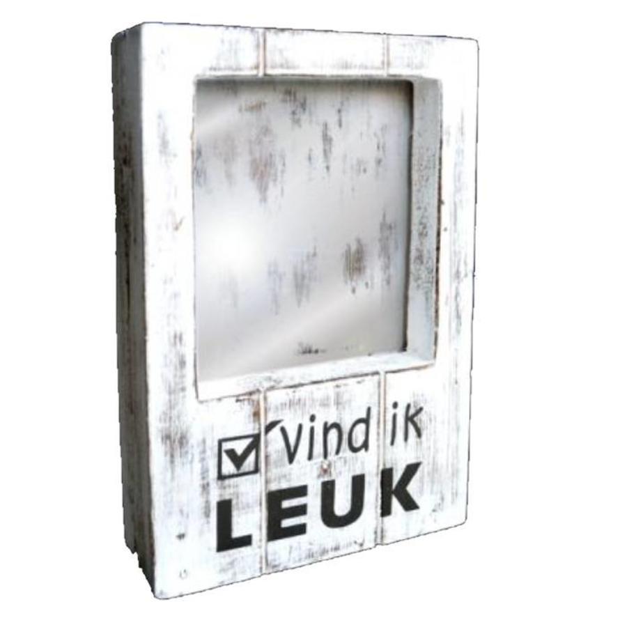 BonTon - Fotolijst Hout - Vind ik Leuk - 22 x 14 cm - Kleur Antique White-1