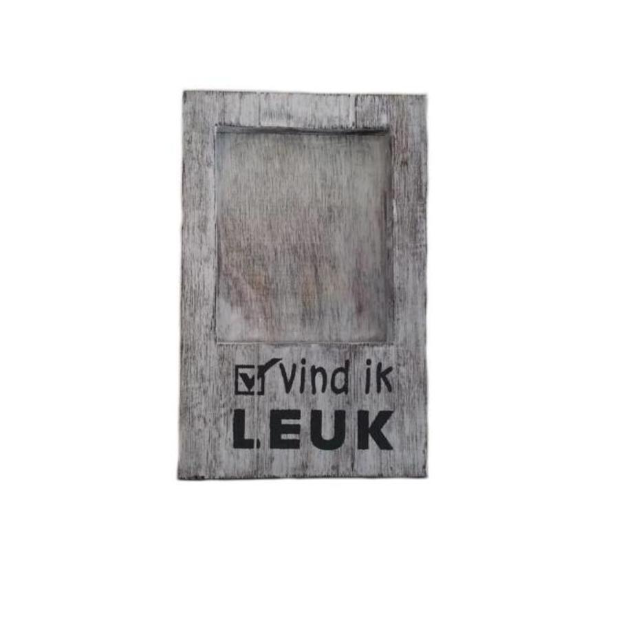 Fotolijst Hout - Vind ik Leuk - 22x14cm - Kleur Antique White-2