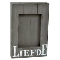 Fotolijst Hout - Liefde - 25x16cm - Kleur Antique Grey