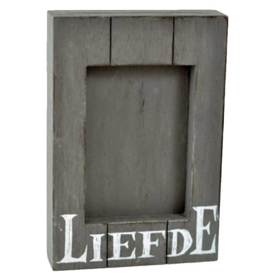 Fotolijst Hout - Liefde - 25x16cm - Kleur Antique Grey-1