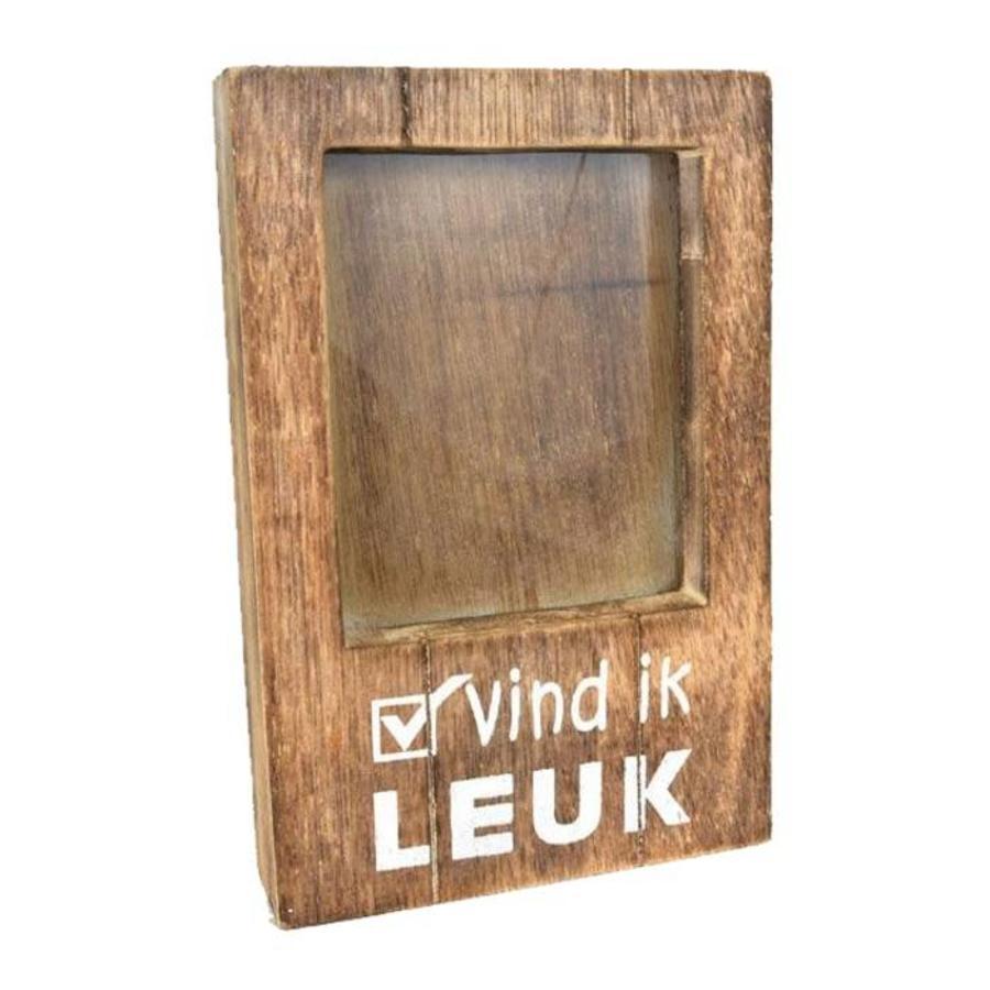 Fotolijst Hout - Vind ik Leuk - 22x14cm - Kleur Naturel-1