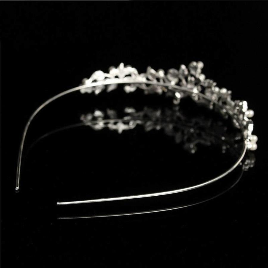 Fonkelende Tiara bezet met Parels en Kristallen-7