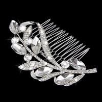 thumb-Fonkelende Moderne Haarkam bezet met Kristallen-3